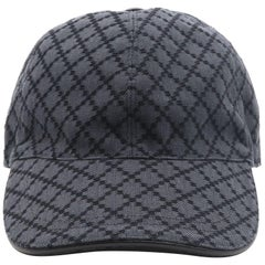 Gucci Diamante Gray / Black  Men's Baseball Hat XL
