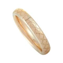 Gucci Diamantissima 18 Karat Rose Gold Thin Band Ring