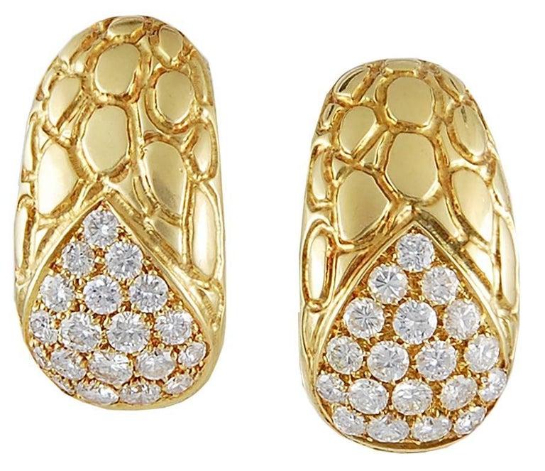 Round Cut Gucci Diamond Gold Choker Necklace Suite  For Sale