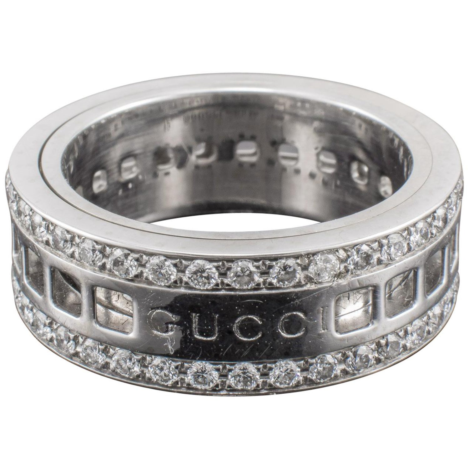 7b033c417 Gucci Diamond Ring Revolving Gold at 1stdibs