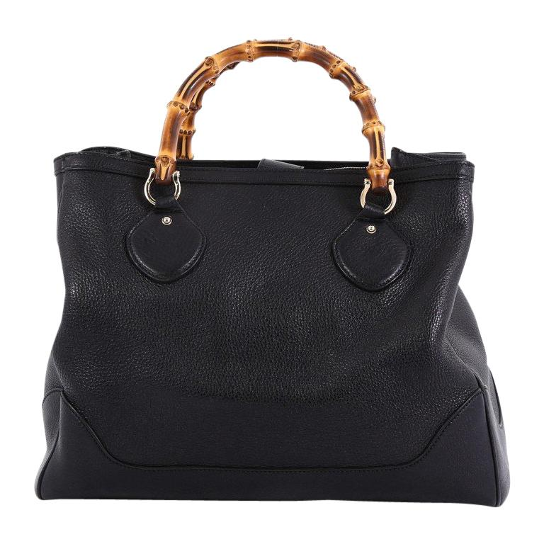 4a26ab4d8 Gucci Diana Bamboo Top Handle Tote Leather Medium For Sale at 1stdibs