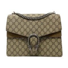 Gucci Dinoysus Medium GG Supreme Canvas Shoulder Bag