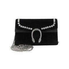 Gucci Dionysus Bag Crystal Embellished Velvet Super Mini