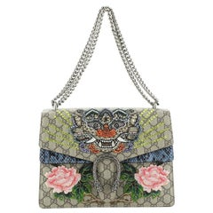 Gucci Dionysus Bag Embellished GG Coated Canvas with Python Medium