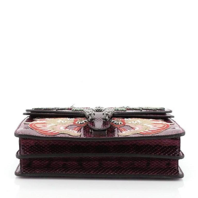 Women's or Men's Gucci Dionysus Bag Embellished Python Medium For Sale