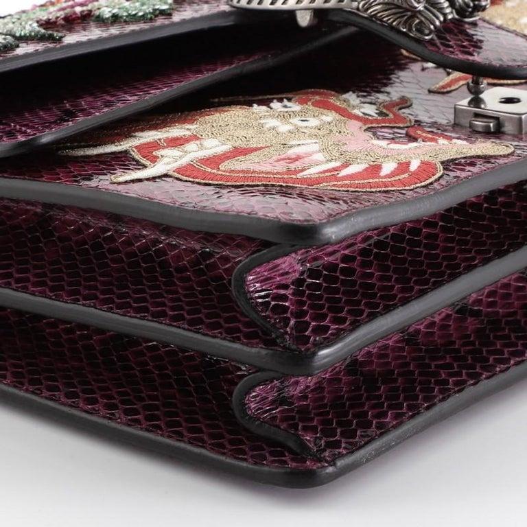 Gucci Dionysus Bag Embellished Python Medium For Sale 4