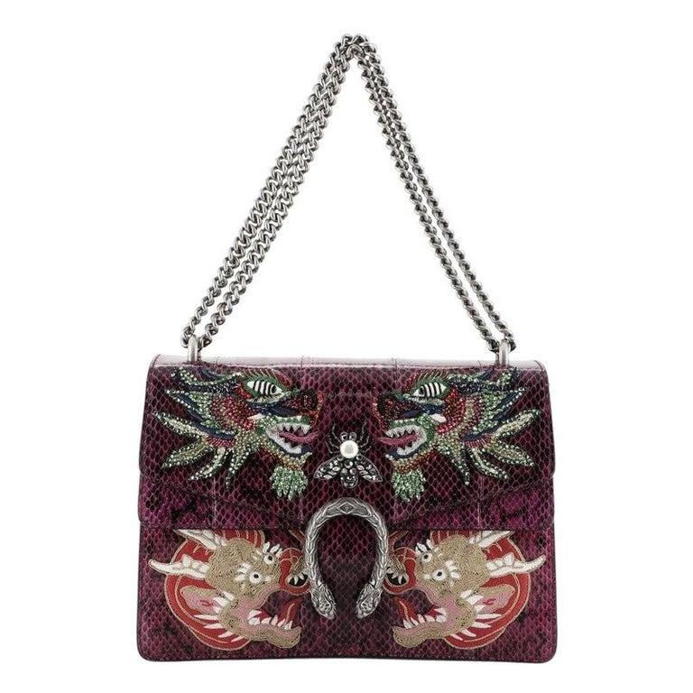 Gucci Dionysus Bag Embellished Python Medium For Sale