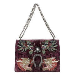 Gucci  Dionysus Bag Embellished Python Medium