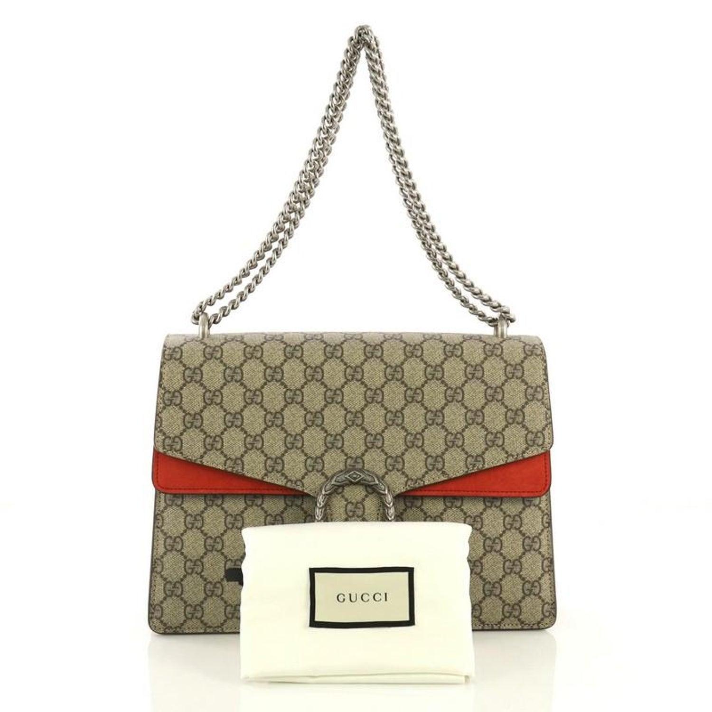 57089512698e21 Gucci Dionysus Bag GG Coated Canvas Medium at 1stdibs
