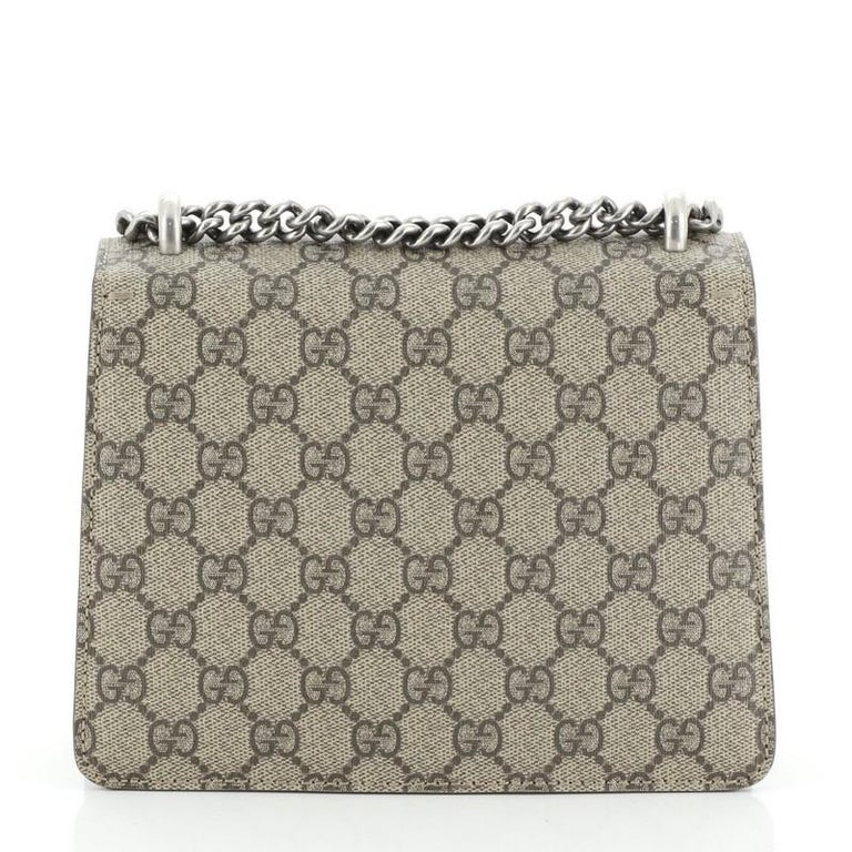 Gray Gucci Dionysus Bag GG Coated Canvas Mini