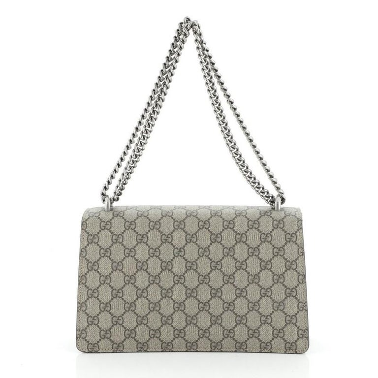Gray Gucci Dionysus Bag GG Coated Canvas Small