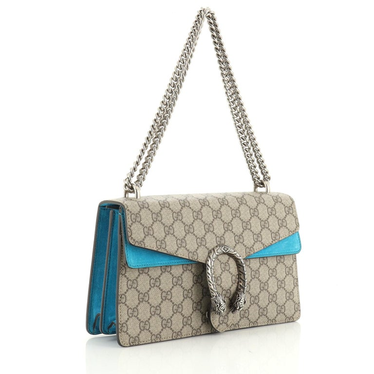 Gucci Dionysus Bag GG Coated Canvas Small In Good Condition For Sale In New York, NY