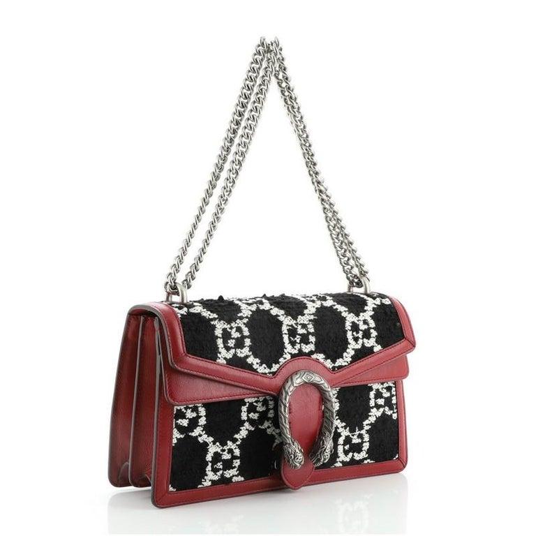 Black Gucci Dionysus Bag GG Tweed Small