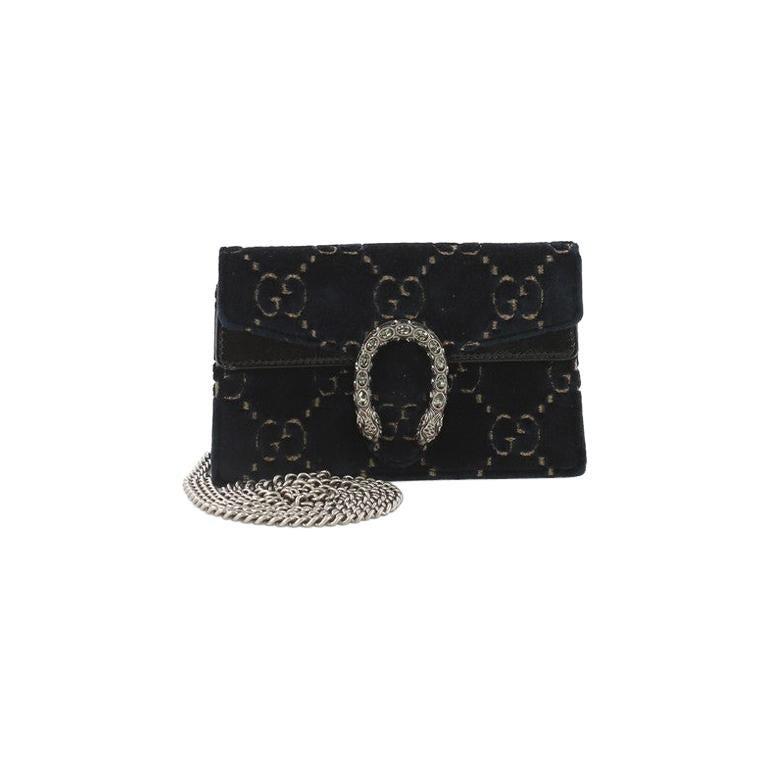 105c91ebf Gucci Dionysus Bag GG Velvet Super Mini at 1stdibs