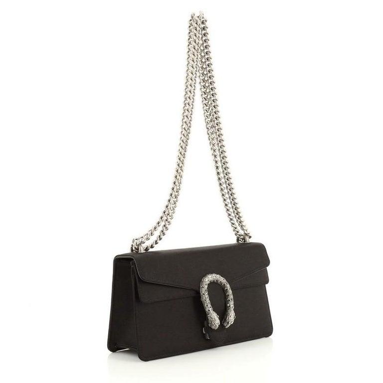 Black Gucci Dionysus Bag Satin Small For Sale