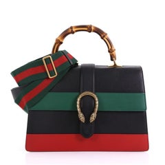 Gucci Dionysus Bamboo Top Handle Bag Colorblock Leather Large