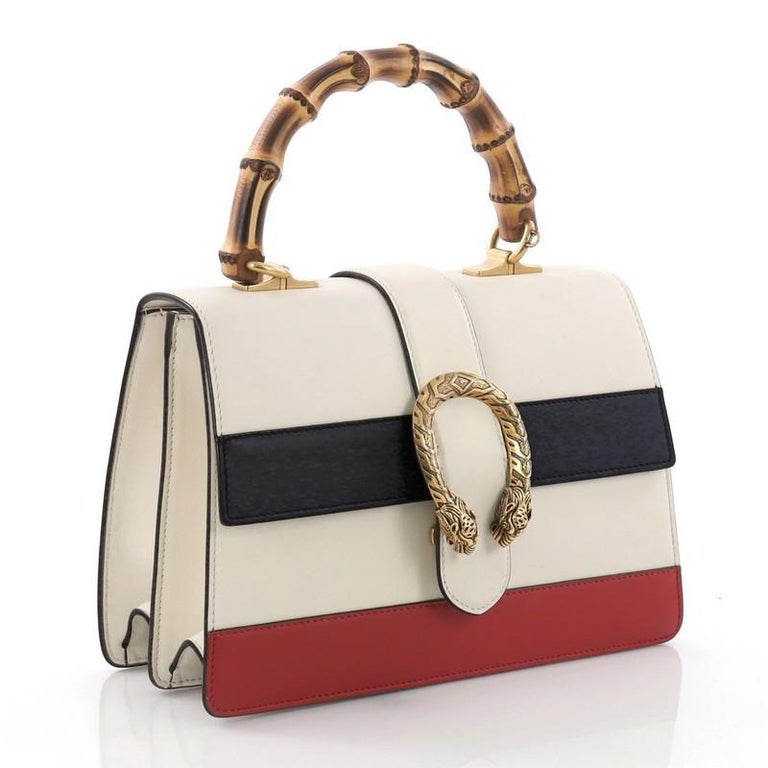 42e5ff9e58f4 Beige Gucci Dionysus Bamboo Top Handle Bag Colorblock Leather Medium For  Sale