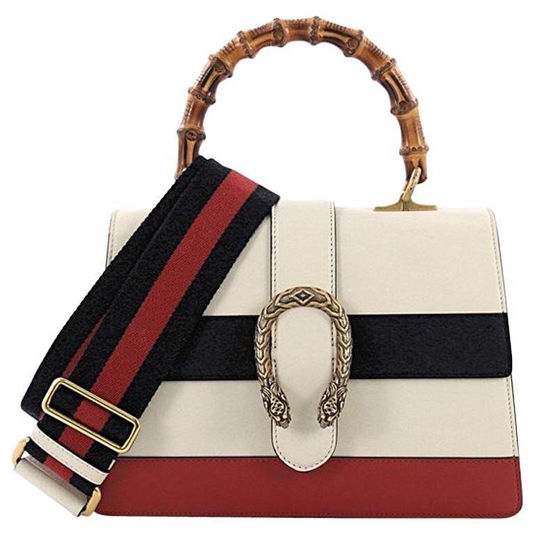 524803eee62e Gucci Dionysus Bamboo Top Handle Bag Colorblock Leather Medium For Sale