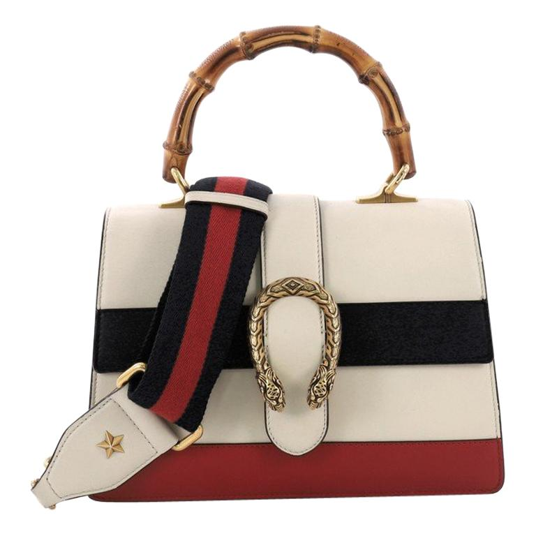 0c39a44fa192 Gucci Dionysus Bamboo Top Handle Bag Colorblock Leather Medium For Sale