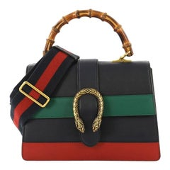 c8c38bf7ff485e Gucci Dionysus Bamboo Top Handle Bag Colorblock Leather Medium