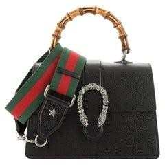Gucci Dionysus Bamboo Top Handle Bag Leather Medium