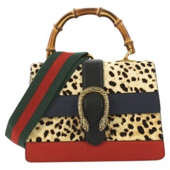 2d5d60c36ba2ea Gucci Dionysus Bamboo Top Handle Bag Printed Pony Hair with Leather Medium