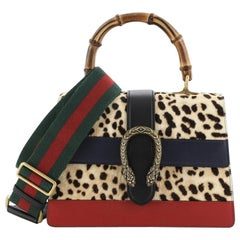 Gucci Dionysus Bamboo Top Handle Bag Printed Pony Hair with Leather Medium