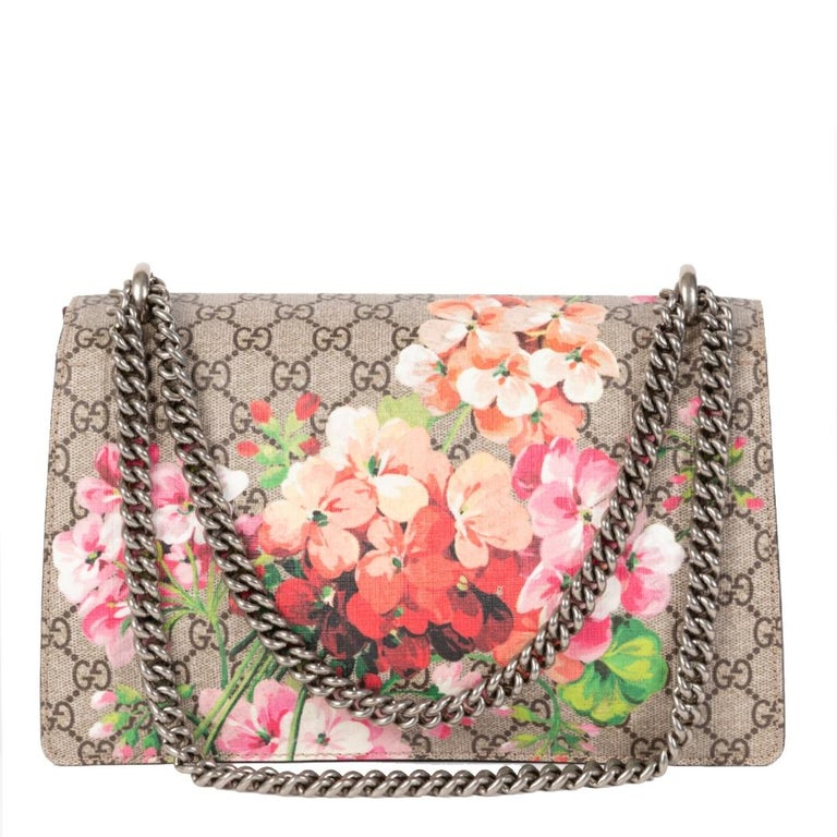 Very good condition  Gucci Dionysus Bloom Small Shoulder Bag  A floral touch is always a good idea and on this iconic Gucci bag, it looks even better. The Gucci Dionysus is one of the brand's signature bags and this particular one comes with a bloom
