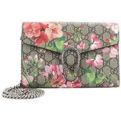 Gucci Dionysus Chain Wallet Blooms Print GG Coated Canvas Small