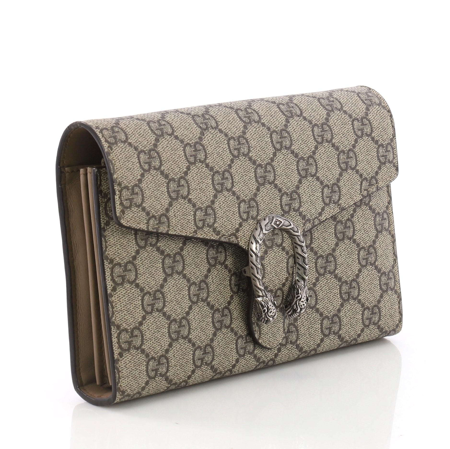 69784a5c72d Gucci Dionysus Chain Wallet GG Coated Canvas Small at 1stdibs