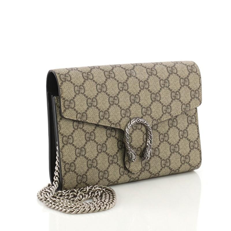 cce426897d50 Gucci Dionysus Chain Wallet GG Coated Canvas Small at 1stdibs