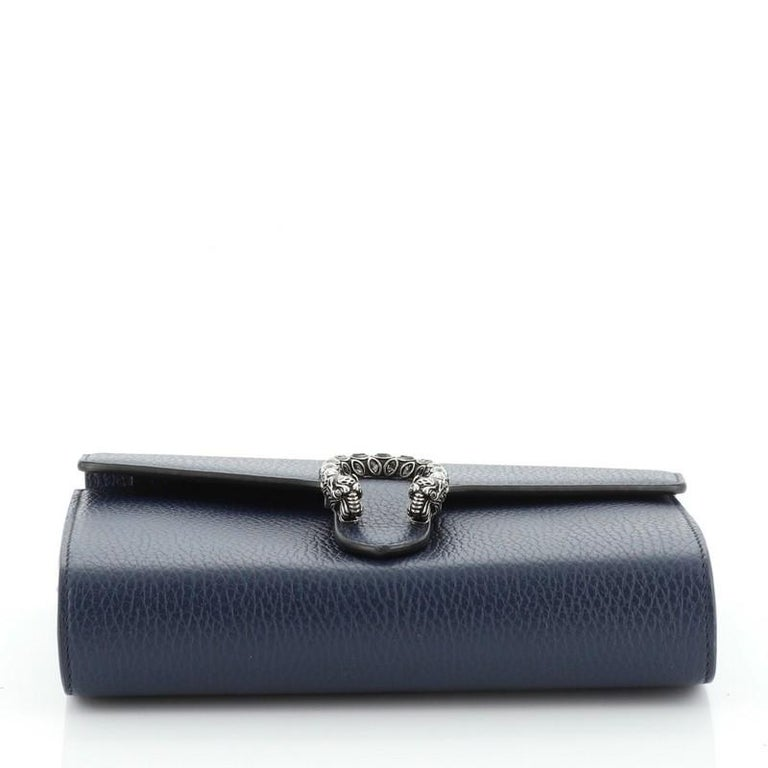 Women's or Men's Gucci Dionysus Chain Wallet Leather with Embellished Detail Small For Sale