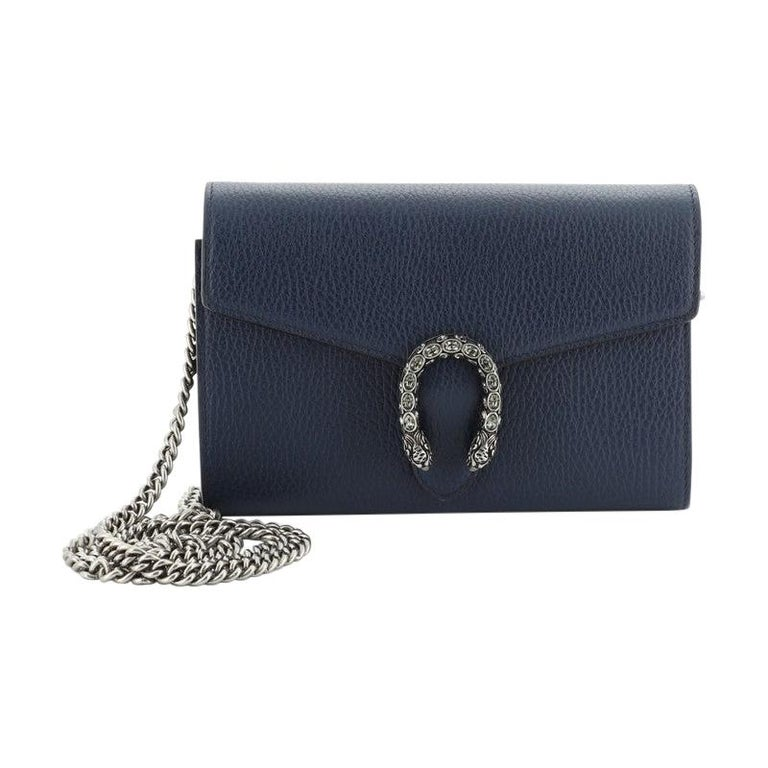 Gucci Dionysus Chain Wallet Leather with Embellished Detail Small For Sale