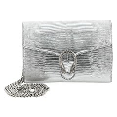 Gucci Dionysus Chain Wallet Lizard Embossed Leather Small