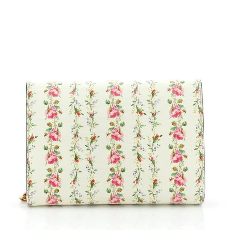 Beige Gucci Dionysus Chain Wallet Printed Leather Small  For Sale
