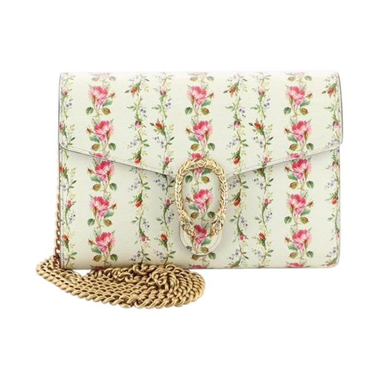 Gucci Dionysus Chain Wallet Printed Leather Small  For Sale