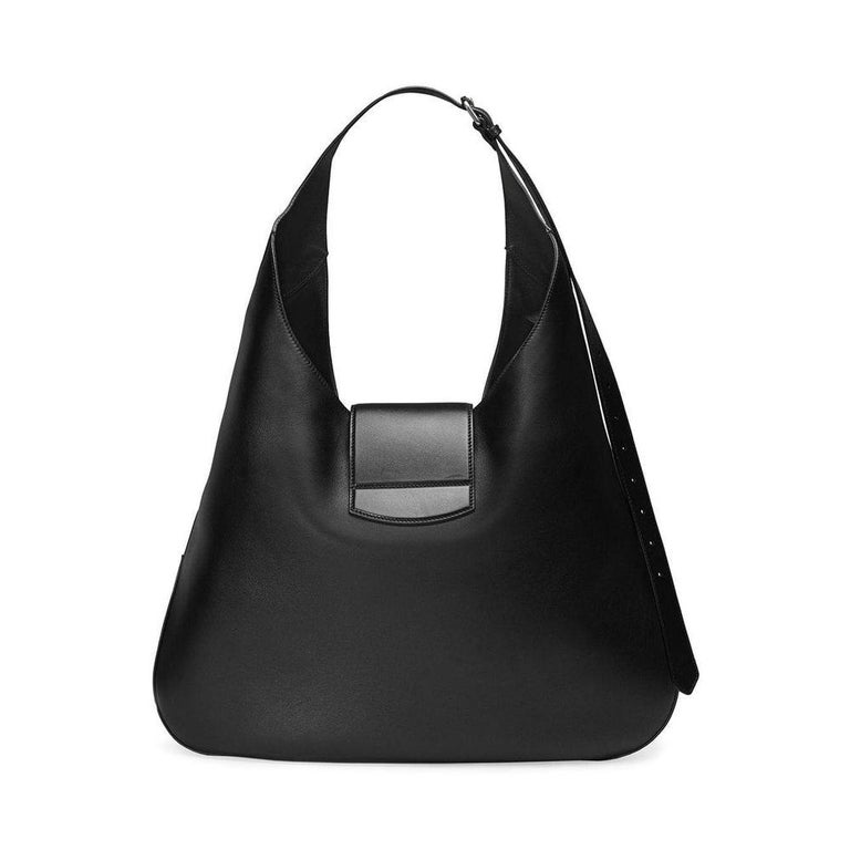 Black Gucci Dionysus Embroidered Maxi Leather Hobo Bag For Sale