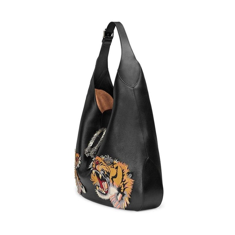 Gucci Dionysus Embroidered Maxi Leather Hobo Bag In New Condition For Sale In Brossard, QC
