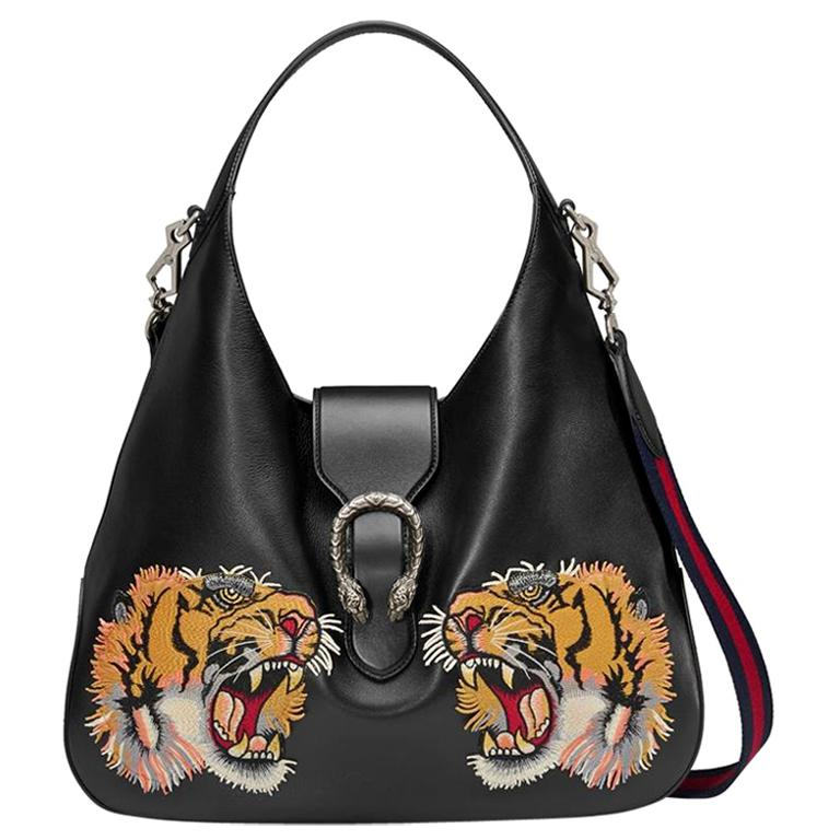 Gucci Dionysus Embroidered Maxi Leather Hobo Bag For Sale