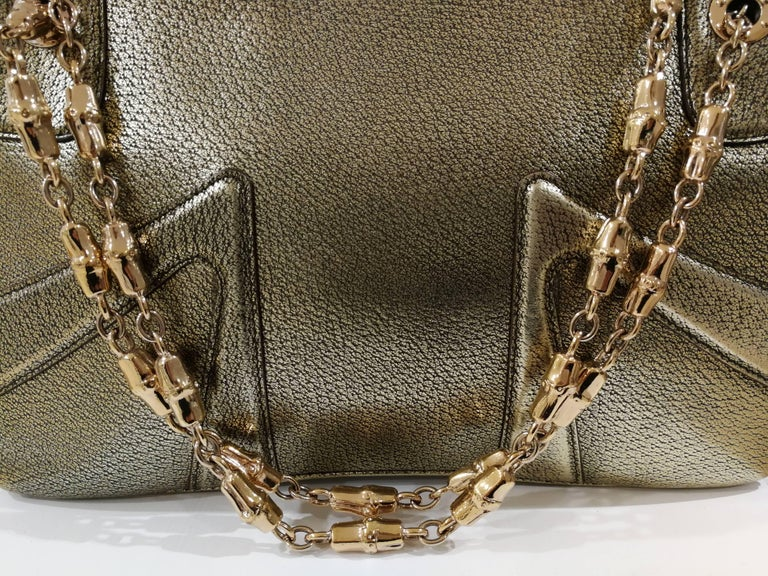 Gucci Dyonisus Gold tone leather White Dragons bag  Unique Gucci dyonisus bag totally made in italy with 2 dragons on the front  with white faux pearls embellished with real crystal swarovski  Bamboo gold tone chain