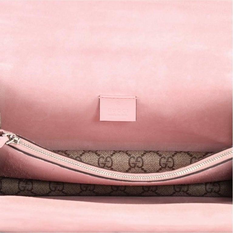 93fea6da5b0 Gucci Dionysus Handbag Crystal Embellished GG Coated Canvas Small For Sale 1