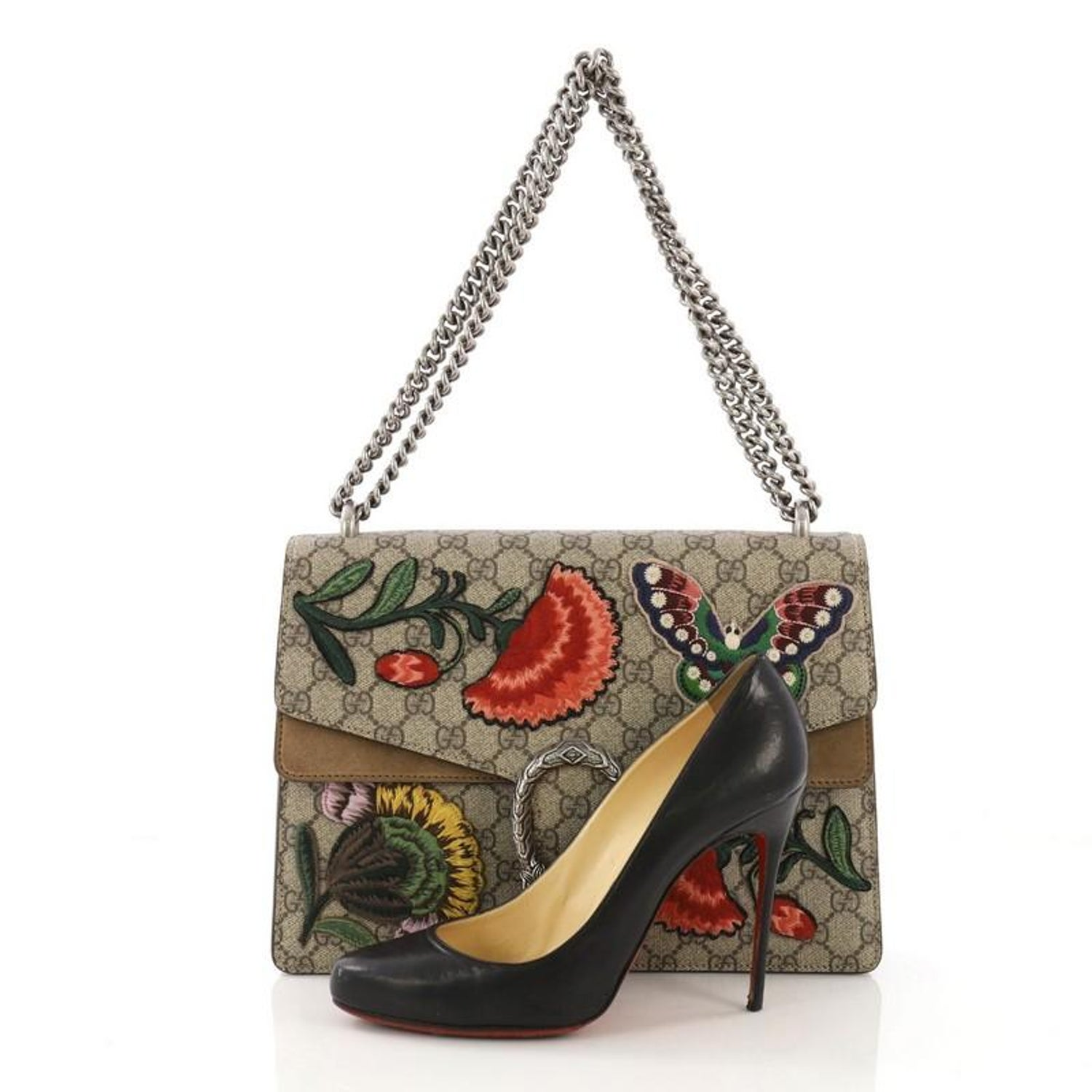 321f2d0e75c Gucci Dionysus Handbag Embroidered GG Coated Canvas Medium For Sale at  1stdibs