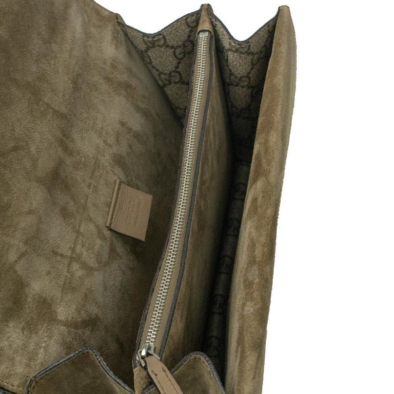 GUCCI Dionysus Shoulder bag in Brown Canvas For Sale 1