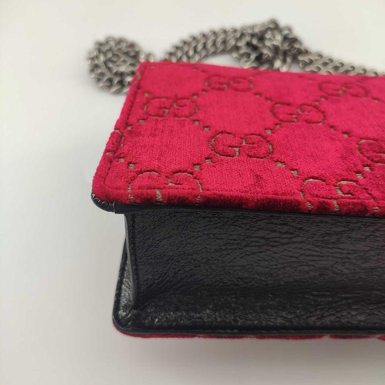 GUCCI Dionysus Shoulder bag in Red Velvet 8