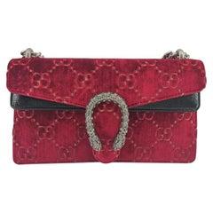 GUCCI Dionysus Shoulder bag in Red Velvet