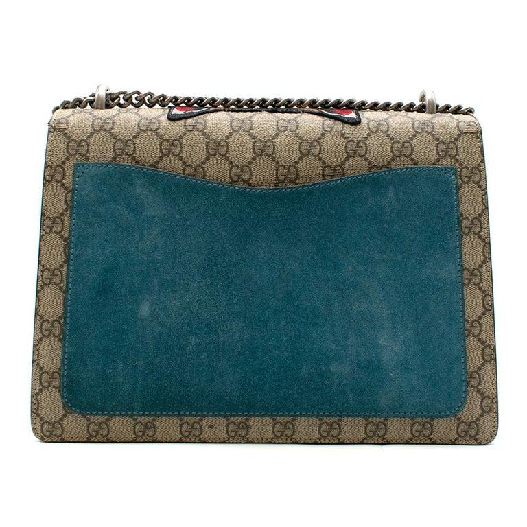 2f45a17c1232 Gray Gucci Dionysus supreme medium tiger head embroidered shoulder bag For  Sale