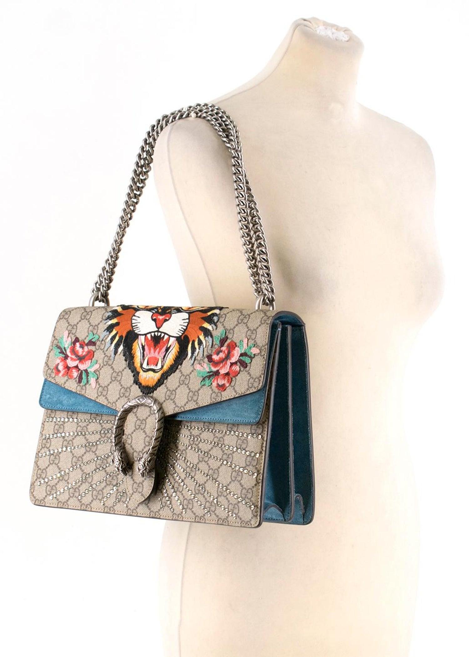 b327b73b27ea Gucci Dionysus supreme medium tiger head embroidered shoulder bag For Sale  at 1stdibs