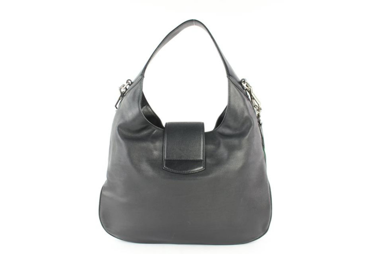 ec1d4d64f47e Gucci Dionysus Web 2way Hobo 8gj0111 Black Leather Shoulder Bag For Sale at  1stdibs