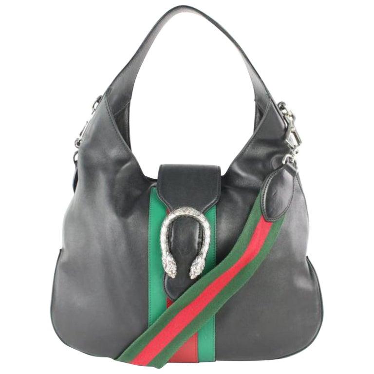 3e4ac7462398 Gucci Dionysus Web 2way Hobo 8gj0111 Black Leather Shoulder Bag For Sale