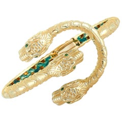 Gucci Dionysus Yellow Gold and Tsavorite Bracelet